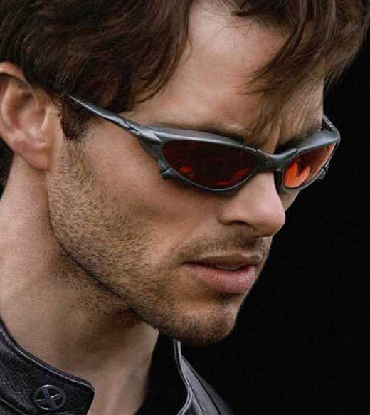 Cyclips or James Marsden wearing the Oakley sunglasses in X-Men