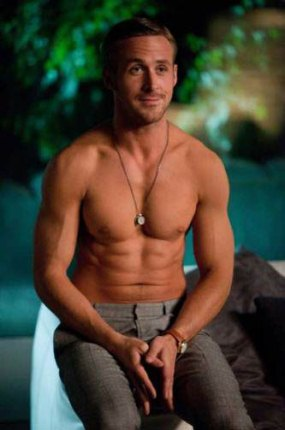 Ryan Gosling in the movie Crazy Stupid Love wearing the necklace.